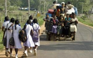 Sri Lankan Tamil regugees (IDP) from the Mannar region.Photo AP